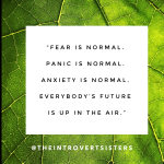 fear is normal quote