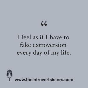 social media fake extrovert